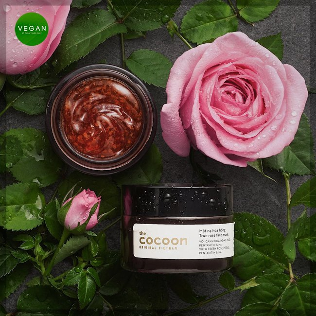 Mặt nạ hoa hồng cocoon 30ml (true rose face mask) thuần chay