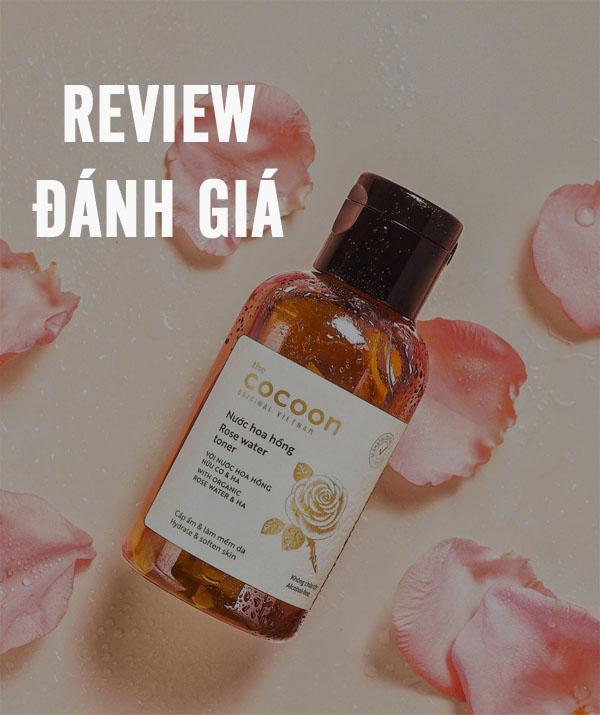 Hình ảnh video đánh giá review Nước hoa hồng Cocoon sử dụng như thế nào?