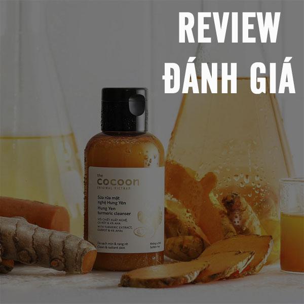 Hình ảnh video đánh giá review Sữa rửa mặt Nghệ Hưng Yên Cocoon sử dụng như thế nào?